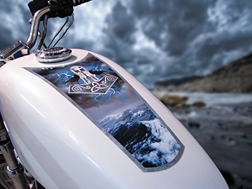 East Coast Vinyl Werkz Fuel Tank & Fender Decals for Harley Davidson Sportsters & Other Motorcycles - 'Thor`s Hammer'