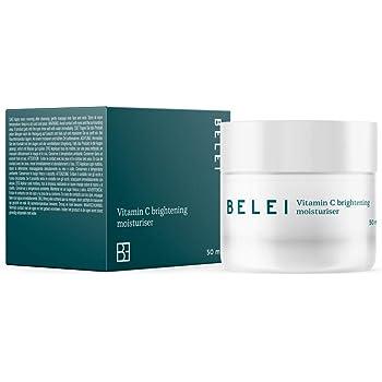 Marchio Amazon - Belei - Crema idratante illuminante con Vitamina C, 90.5% ingredienti naturali, vegana, 50 ml