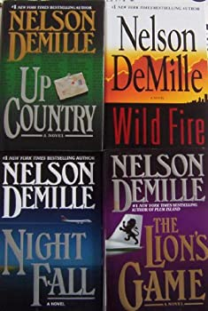 Nelson DeMille 4 Books Set/Series Collection  The John Corey Series-- Up Country ~ Wild Fire ~ The Lion s Game ~ Night Fall  Hardback