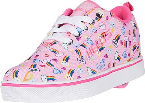 Heelys Girl's Pro 20 Prints (Little Kid/Big Kid/Adult) Light Pink/Pink/Rainbow 4 Big Kid