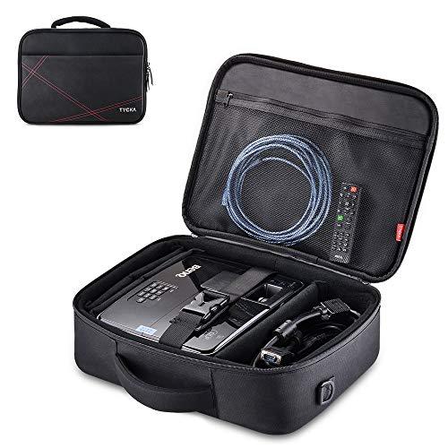 TYCKA Beamertasche, Projektor Reisetasche Large- 41x31x12cm- mit Verstellbarem Schultergurt & Trennwänden für Acer, Epson, Benq, LG, Sony
