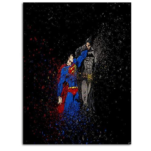 Poster da parete con drago di vigneti della giustizia League supereroi supereroi, legione il cavaliere oscuro Superman, emblema (7), 45,7 x 61 cm