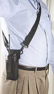 Adjustable Radio Holder with Shoulder Strap - BLACK