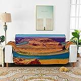 "Vistas asombrosas de Grand Canyon Arizona Sofá Cojines para planeador Funda para sofá Sofá seccional Funda de terciopelo 66 ""(168 cm) para 3 asientos Lavado a máquina Funda para silla con brazo de la"