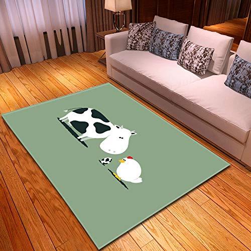 Alfombras Salon Grandes 60x90cm Verde Mostaza Patrón Diseño Moderno Alfombras Mullida Tacto Suave Antideslizante Lavable Que no se Desprende Aplicar para Dormitorio Cocina Pasillo Habitacion Rugs
