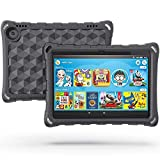 DJ&RPPQ 2020 All-New 8 Plus Tablet Case, 8 Tablet Case(10th Generation, 2020 Release),Light Weight/Shock-Absorption/Anti Slip/High Impact Kids Case for All-New 8 Tablet (Black)