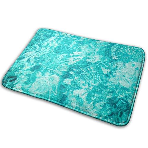 Felpudo antideslizante de 40 x 60 cm, lavable a máquina, alfombra de área de atrapar la suciedad, alfombra de entrada para interiores, exteriores, sala de estar, agua, piscina, deslumbramiento