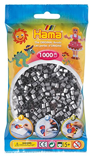 Hama 207-62 - Bügelperlen, 1000 Stück, silber