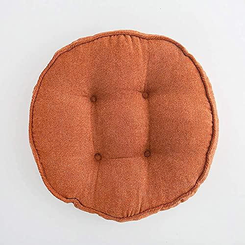 WHZG Cojin Silla Almohada del suelo del cojín de la silla del futón de la ropa de cama suave, espesa, almohadilla de silla de tatami redonda, cómodo cojín de asiento, estera de asiento para oficina en