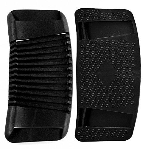 2 Gurt Schulterpolster Pads flexibler Kunststoff Anti-Rutsch-Effekt, gebogen, Größe:50mm