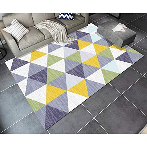 WXYXG Carpet Modern Simplicity Geometry Carpet Living Room Cffee Table Sofa Big Carpet Bedroom Abstract Nordic Carpet (PATTERN : F, Size : 120×160cm)