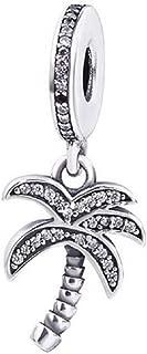 DH Love fit Pandora Bracelet Charms Palm Tree Beach Charm Dangle Bead 925 Sterling Silver