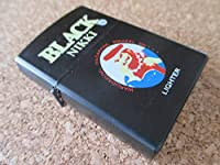 オイルライター ニッカウヰスキー パロディー BLACK NIKKI 髭ブラックニッカ ハイボール ZIPPO型 ジッポ-タイプ 廃版
