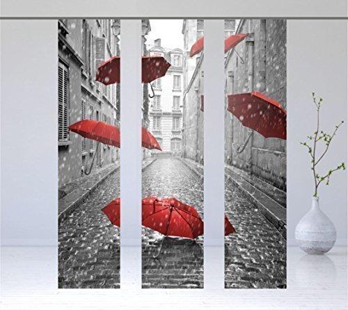 gardinen-for-life Flächenvorhang Rain, Tolles Herbstmotiv, 3er - Serie, Set 3tlg, Höhe 2,45 m