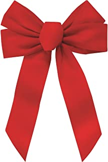Rocky Mountain Goods Red Bow - Christmas Wreath Bow - Great for Large Gifts - Indoor/Outdoor use - Hand Tied in USA - Waterproof Velvet - Attachment tie Included for Easy Hanging (12-inch)