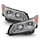 VIPMOTOZ Chrome Housing OE-Style Projector Headlight Headlamp Assembly For 2010-2013 Buick Lacrosse & Allure Halogen Model, Driver & Passenger Side