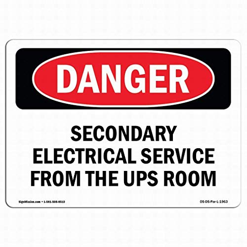 EstherMi19 Señal de peligro OSHA – Señal de advertencia de servicio eléctrico...