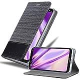 Cadorabo Coque pour Nokia 5.1 Plus en Gris Noir - Housse Protection avec Fermoire Magnétique, Stand...