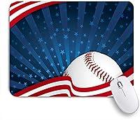 ECOMAOMI 可愛いマウスパッド Baseball America Print 滑り止めゴムバッキングマウスパッドノートブックコンピュータマウスマット