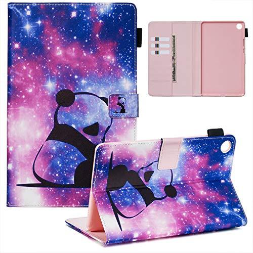 LMFULM® Hülle für Huawei MediaPad M5 (8,4 Zoll) PU Lederhülle Smart Hülle Cover Ständer Schutzhülle Flip Cover Panda