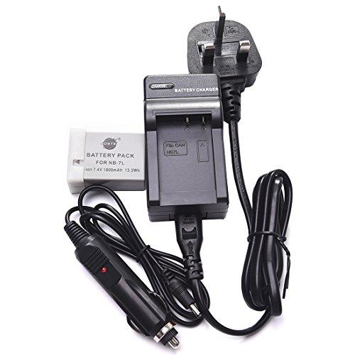 DSTE NB-7L Batería recargable de litio-ión + DC86U de viaje y cargador de coche...