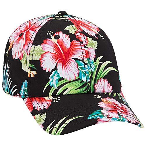 Otto Hawaiian Pattern Cotton Twill 6 Panel Low Profile Baseball Cap - Design001