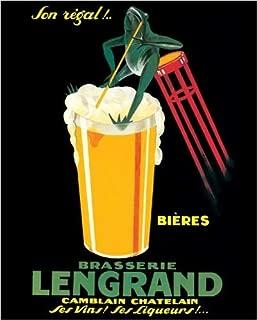 Brasserie Lengrand By G. Piana, Beer Frog Vintage Advertising Poster Print 16x20