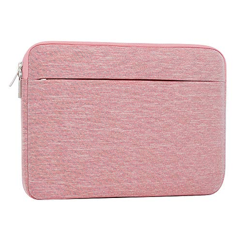 Laptop Sleeve 14 Inch, AtailorBird Notebook Protective Bag Carrying Case Water-Repellent with Accessory Pocket for Ultrabook Tablet Cover Case, Pink