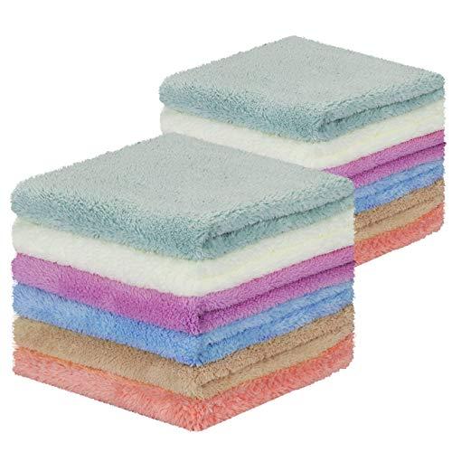 Yoofoss Toallas Pequeñas 30x30cm (Paquete de 12) Toallas de Mano Muy Suaves y Absorbentes| Suaves en Pieles Sensibles para Bebés, Niños | Juegos de Toallas de/Cara/Mano/Baño, Paños de Limpieza/Cocina