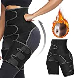8. yingyi Butt Lifter Thigh Trimmer,High Waist Trimmer and Thigh Trainer for Women,3 in 1 Weight Loss Butt Lifter Waist Trainer Shaping Slimming Support,Hips Belt Trimmer Body Shaper M Black