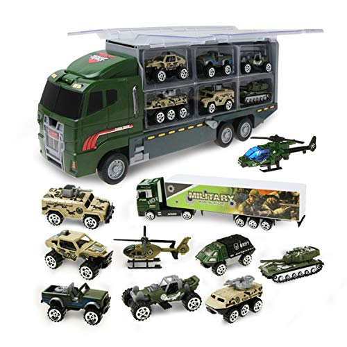 Jenilily 11 in 1 Panzer Spielzeug militär Auto Hubschrauber militärische Autos Spielzeug Modell für Kinder