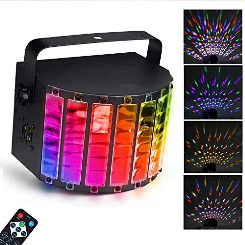 EFGS LED Bühnenbeleuchtung, LED Party Disco Licht, 7 Lichfarben Party Lampe mit Fernbedienung, DMX Musikgesteuert Lichteffekt LED als Partylicht für Karaoke, Geburtstag und Halloween