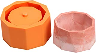Nicole Concrete Silicone Mold Cylinder Concrete Flower Pot Molds Handmade Cement Vase Mould Craft Garden Decorating Tools