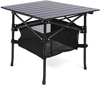 Taimonik アウトドア アルミ製 折りたたみ テーブル 軽量 吊りメッシュラック付き 収納バッグ付き 携帯便利 ピクニック レジャー キャンプ 用