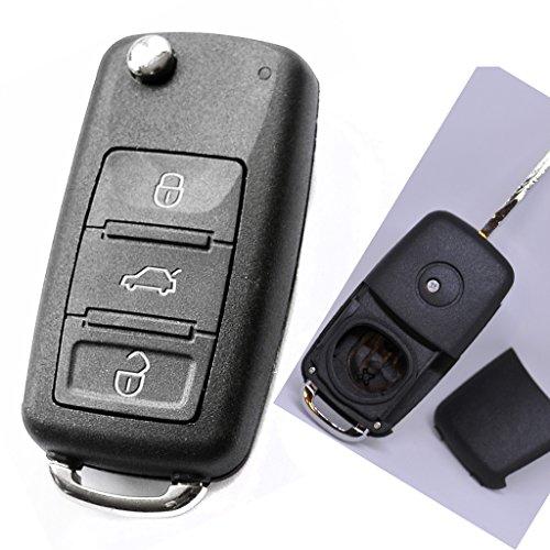 Mando a distancia para llave de coche, 1 carcasa de 3 botones y 1 pieza en blanco para Volkswagen Tuareg 7L hasta 2010