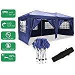 Laiozyen 3 x 6 m Waterproof Pop Up Gazebo Marquee Water Resistant Tent with Side Panels & Storage Bag for Outdoor Wedding Garden Party 15