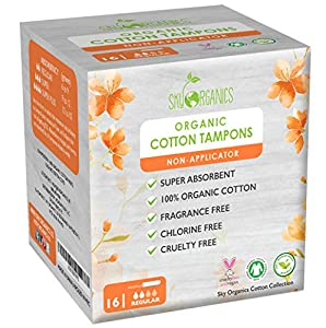 Organic Non-Applicator Tampons Regular by Sky Organics Parent