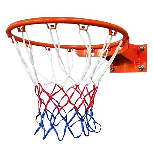 Mzzo Hohe Qualität Durable Standardgröße Nylonfaden Sport Basketballkorb Ineinander greifen-Netz-Rückenbrett Rim Ball PUM Basketball # 83# 22 (Color : A)