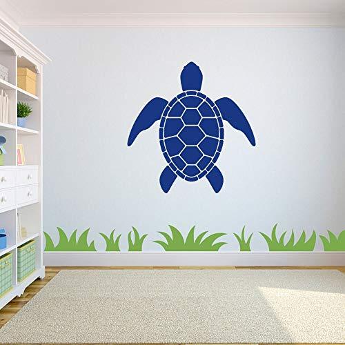 yaonuli Einfache Schildkröte Schwimmen vorwärts Tierwand Künstler Wohnzimmer und Ladenraum Dekoration 57x57cm