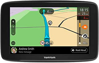 TomTom GPS para coche GO Basic, 6 pulgadas, con tráfico y prueba de radares gracias a TomTom Traffic, mapas de la UE, actualizaciones a través de WiFi, soporte reversible integrado
