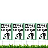 VIBE INK 9'x 12' Please Do Not Litter Yard Sign - Corrugated Plastic, Double-Sided Print, Waterproof, UV Inks, H-Stake Included - Made in The USA (4)