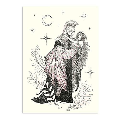 and Mythology Love Romance Fashion Hades Ink Persephone I Fashion - Trendy Poster for Wall Art Home Decor Room I Customize !