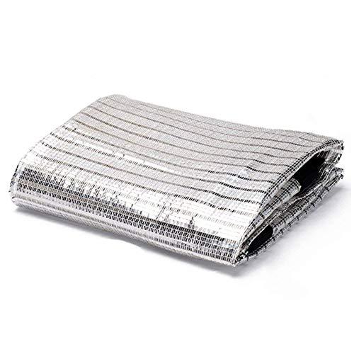 ANHPI-tarpaulin Pare-Soleil Netting 75% Shade Rate Feuille D'aluminium Silver Sun-Proof Plantes Vertes Effet De Refroidissement Jardinage, Multi-Taille en Option,2X3M