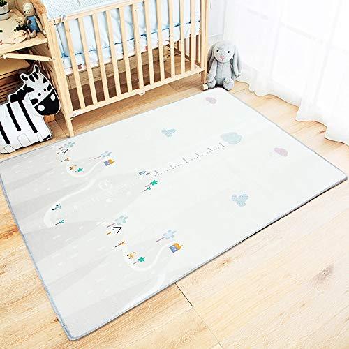 YBWEN-JJ Tapis Sided Tapis Blanket bébé Tapis de Jeu Tout-Petits Playroom Activité Tapis Nursery Tapis Chambre à Coucher (Couleur : Gris, Size : One Size)