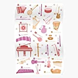 Alphabet Preschool Instrument Musical Nursery Accordion Abc Music Home Decor Wall Art Print Poster !