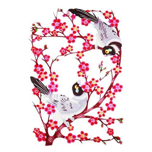 Black Temptation 4PCS Chinese Traditional Art Paper Cut Décor Collection colorée Souvenir-A26
