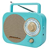 Studebaker SB2000TG Turquoise/Gold Retro Classic Portable AM/FM Radio