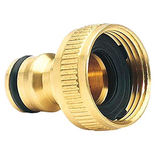 3/4-inch Female Threaded Faucet Adapter, Quick Connect Garden Hose Fittings,Brass Garden Hose Tap Connector (3/4) Quick Hose Adaptor Accessories