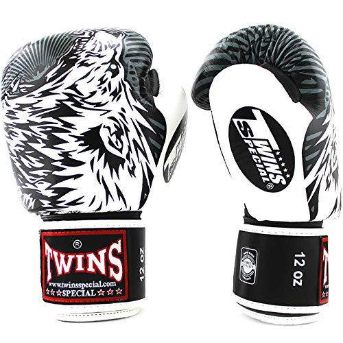 Twins Boxhandschuhe, Fbgvl3 50 Wolf, schwarz-Weiss Größe 12 Oz