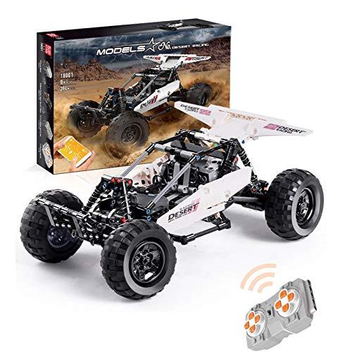 Technic Buggy Building Blocks, 2.4G 4CH Dual Remote Control Desert Racing Car, 394 Piezas Compatibles con Lego, El Modelo De Construcción No Es Creado por Lego